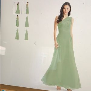 Azazie Ashley Dusty Sage Bridesmaid Dress - 4